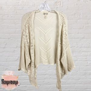 Kirra Cream Colored Crochet Cardigan